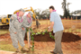 The U.S. Army Corps of Engineers, U.S. Army Garrison-Hawaii and contractor Absher Construction officials broke ground on a new $35.3 million barracks during a traditional Hawaiian blessing ceremony Feb. 23.