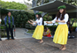 Tehina Mata'ele, left, and Pomaika`i Klein perform a traditional hula to honor the war dead as leaders from the Corps of Engineers joined officials from the Veterans Administration, the American Battle Monuments Commission and others to break ground and bless the new Vietnam Pavilions Project at the National Memorial Cemetery of the Pacific at Punchbowl on May 9.